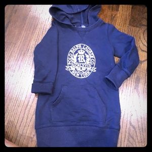 Ralph Lauren size 5 sweater hooded dress
